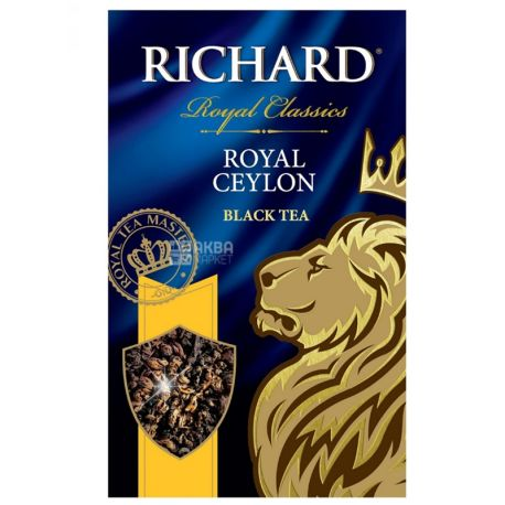 Richard, Royal Ceylon, 90 г, Чай Ричард, Роял Цейлон, черный