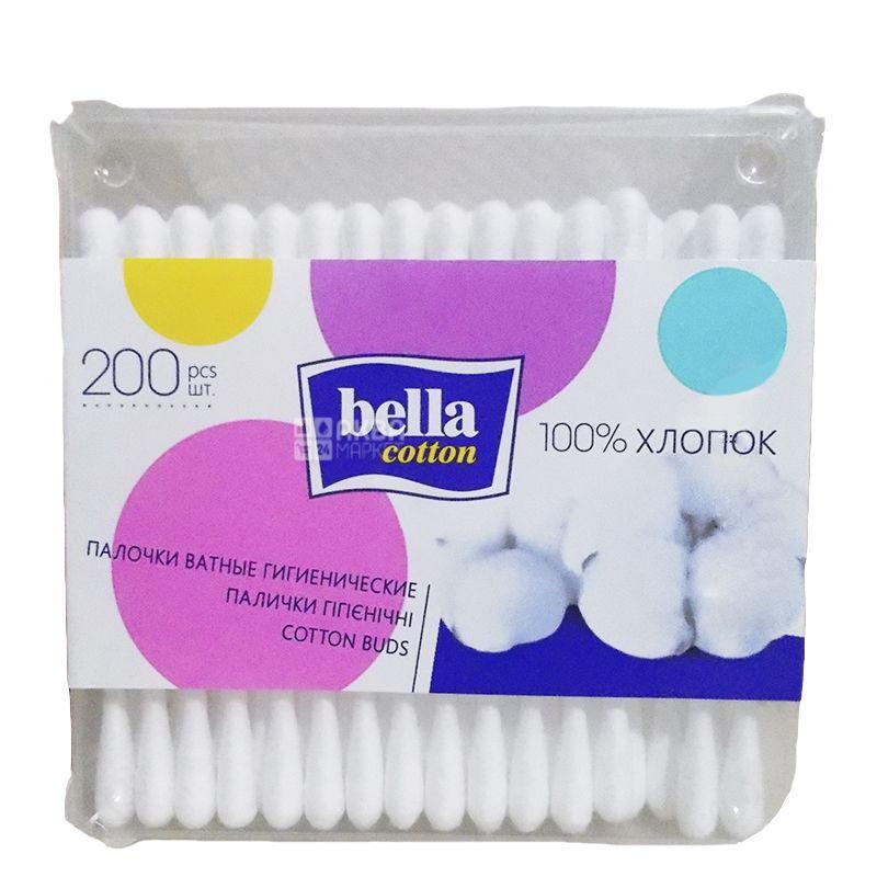 Bella, 200 шт., Ватяні палички гігієнічні