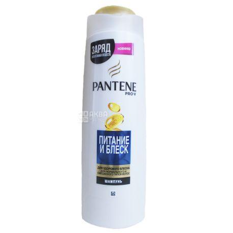 Pantene, 400 мл, Шампунь для нормального и смешанного типа волос, Питание и блеск