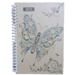 Wound Notebook Eko A5 Butterfly, cage, 50 l