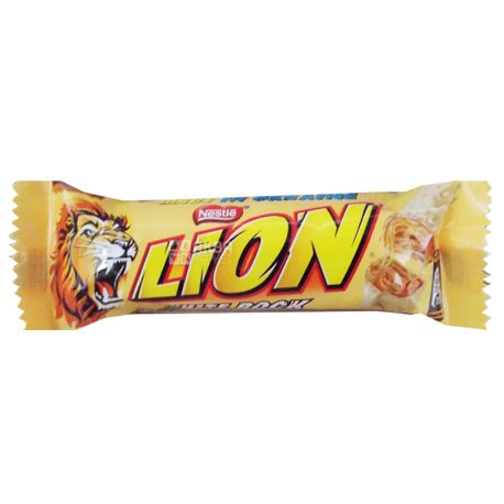 Батончик Nestle Lion White Rock, 42г, упаковка 48шт