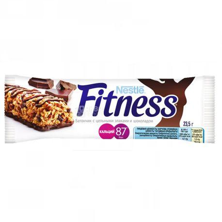 Батончик Nestle Fitness, с цельными злаками и шоколадом, 23.5г, упаковка 24шт