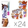 Батончик Nestle Fitness, з цільними злаками і шоколадом, 23.5г, упаковка 24шт