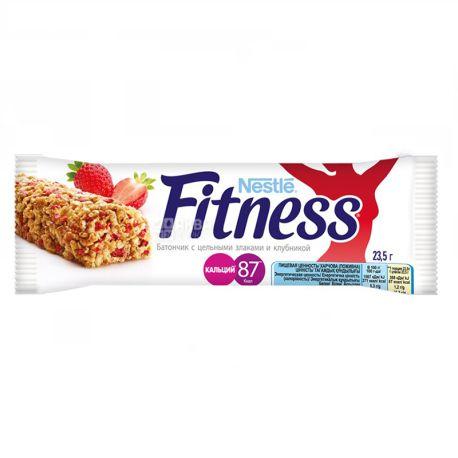Батончик Nestle Fitness, с цельными злаками и клубникой 23.5г, упаковка 24шт