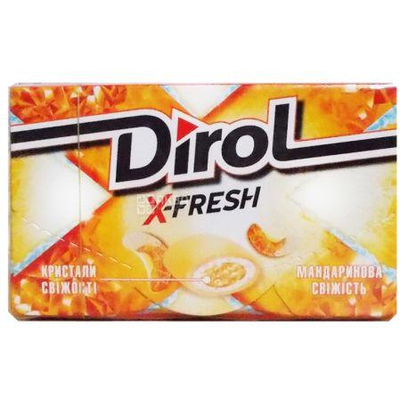 Dirol X-Fresh Мандарин, жувальна гумка, 18г, упаковка 16шт