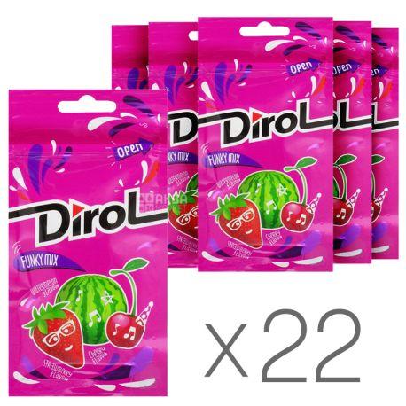 Dirol Funky Mix, 30 г, упаковка 22 шт., Жувальна гумка, Асорті фруктово-ягідних смаків