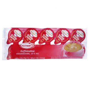 Hochwald, Вершки порційні 10%, 10 г х 10 шт., Упаковка 20 шт.