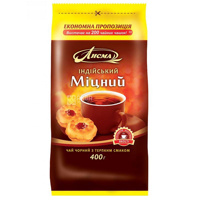 Лисма, Индийский, крепкий, 400 г, Чай черный с терпким вкусом