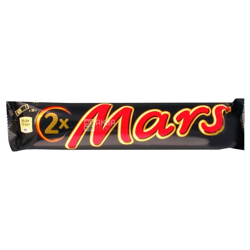 Mars Duo, 70 г, упаковка 24 шт., Батончик шоколадний, Марс Дуо