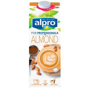 Alpro, Almond for Professionals, Упаковка 8 шт. по 1 л, Алпро, Профешнл, Миндальное молоко