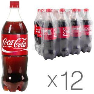 Coca-Cola, Упаковка 12шт по 1л, Сладкая вода, ПЭТ