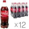 Coca-Cola, Упаковка 12 шт. по 1 л, Кока-Кола, Вода сладкая, ПЭТ