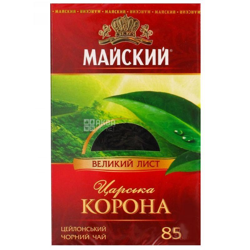 Майский, Царская корона, 85 г, Чай черный, крупнолистовой