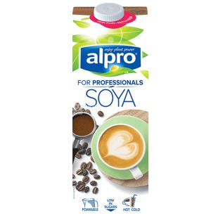 Alpro, Soya for Professionals, Упаковка 12 шт. по 1 л, Алпро, Профешнл, Соевое молоко, витаминизированное