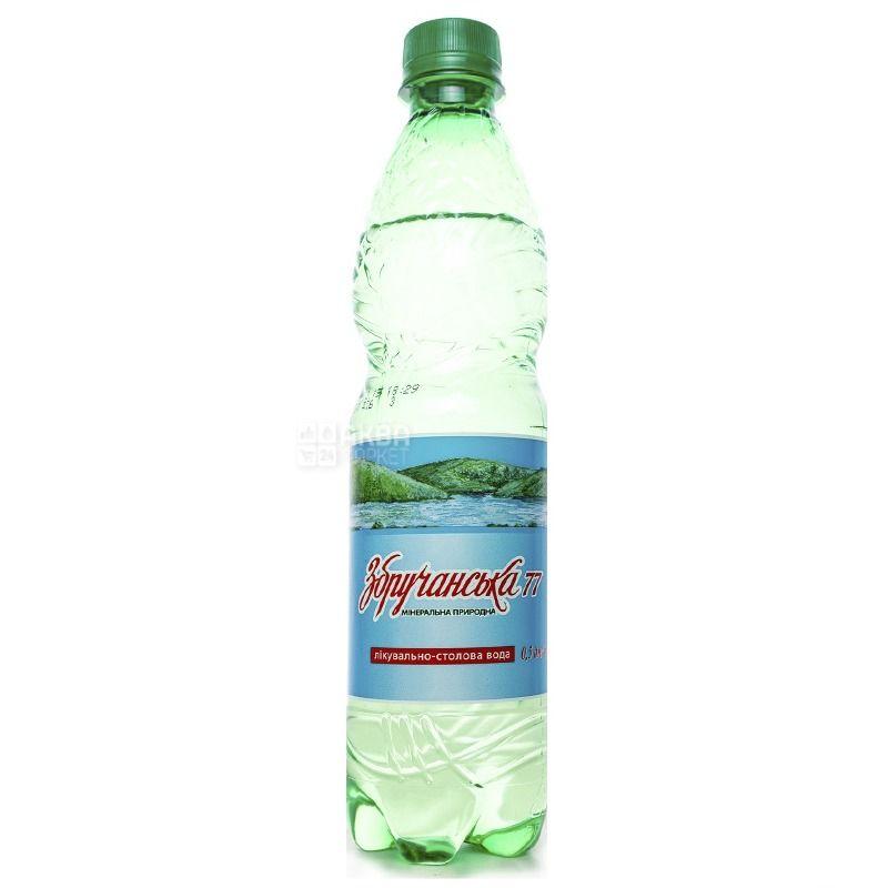 Збручанська 77, Вода мінеральна сильногазована лікувально-столова, 0,5 л, ПЕТ, упаковка 12 шт., ПЕТ