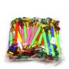 Язычки свистульки 28 см, 100 шт, микс цветов, пакет