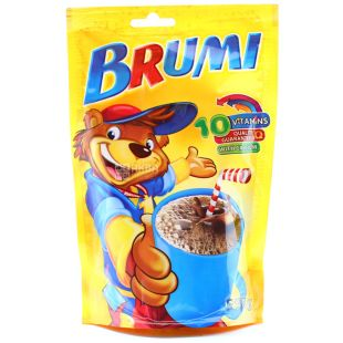 Brumi, cocoa drink, instant, fortified, with calcium, 150 g, doy-pack