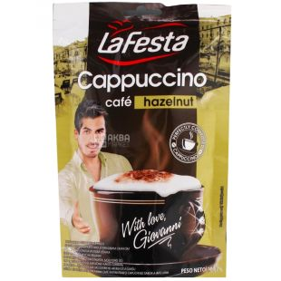 La Festa, Cappuccino Hazelnut, 100 г, Ла Феста, Капучино, с ореховым вкусом, растворимый