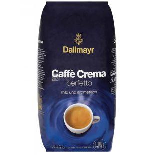 Dallmayr, кава в зернах, Cafe Crema Perfetto, 1 кг, м/у