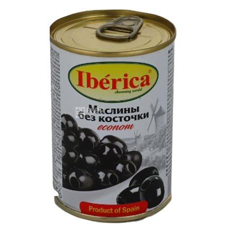 Iberica, 280 г, Маслины без косточки, эконом, ж/б