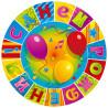 Весела затія З днем народження, Тарілка паперова, Мозаїка, 6 шт, Поліетиленовий пакет
