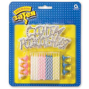 Funny idea With a sign, Candles for the cake, 12 pcs, Package