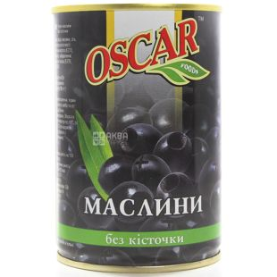 Oscar Pitted Olives, 425 g, Tin