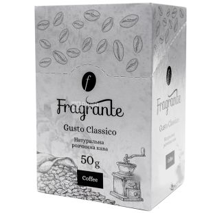 Fragrante Gusto Classico, Instant coffee in stacks, 25 pcs. 2 g