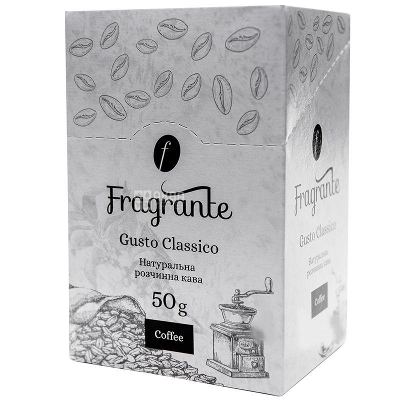 Fragrante Gusto Classico, растворимый кофе, 25 стиков по 2 г