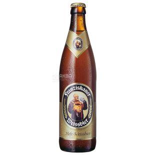 Franziskaner Светлое нефильтрованное, Пиво, 0,5 л, Стеклянная бутылка
