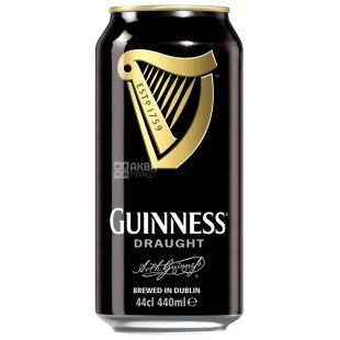 Guinness Draught, Пиво темное, 0,44 л, ж/б