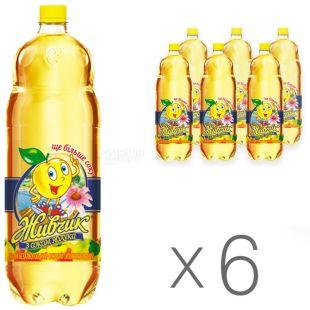 Zhivchik, Packing 6 pcs. on 2 l, With apple juice, PET