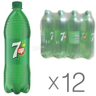 7 UP, Pack of 12 pcs. on 1 l, Sweet water, PET