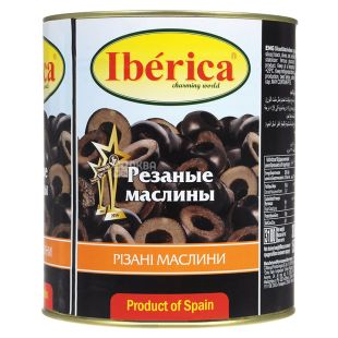 Iberica Black olive sliced, 3 kg, w / w
