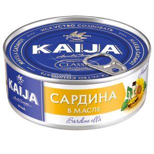 Kaija Атлантична в маслі, Сардина, 240 г, Жерстяна банка з ключем
