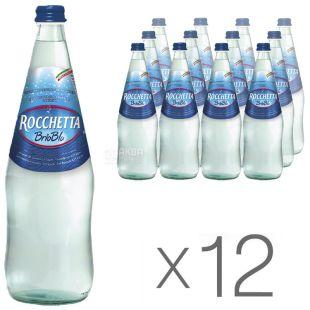 Rocchetta Brio Blu Вода газированная, 1л, стекло, упаковка 12шт