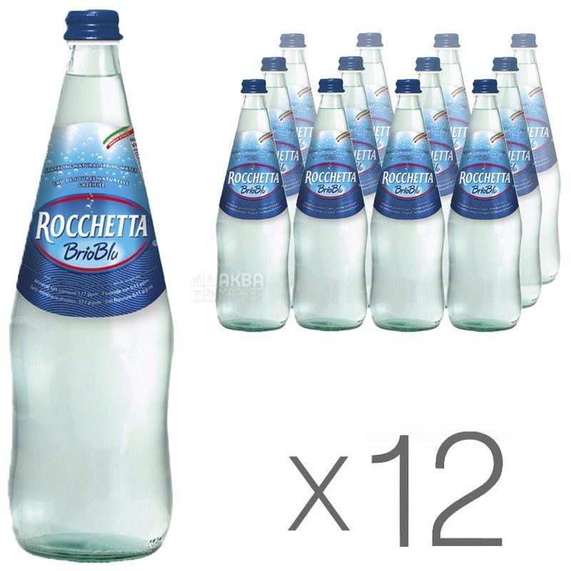 Rocchetta Brio Blu, 1л, Упаковка 12 шт., Рочетта Брио Блю, Вода газированная, стекло