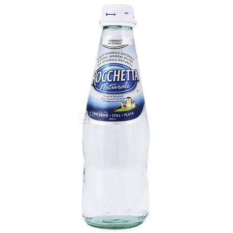 Rocchetta Naturale, 0,25 л, Упаковка 24 шт., Рочетта Натурале, Вода негазована, скло