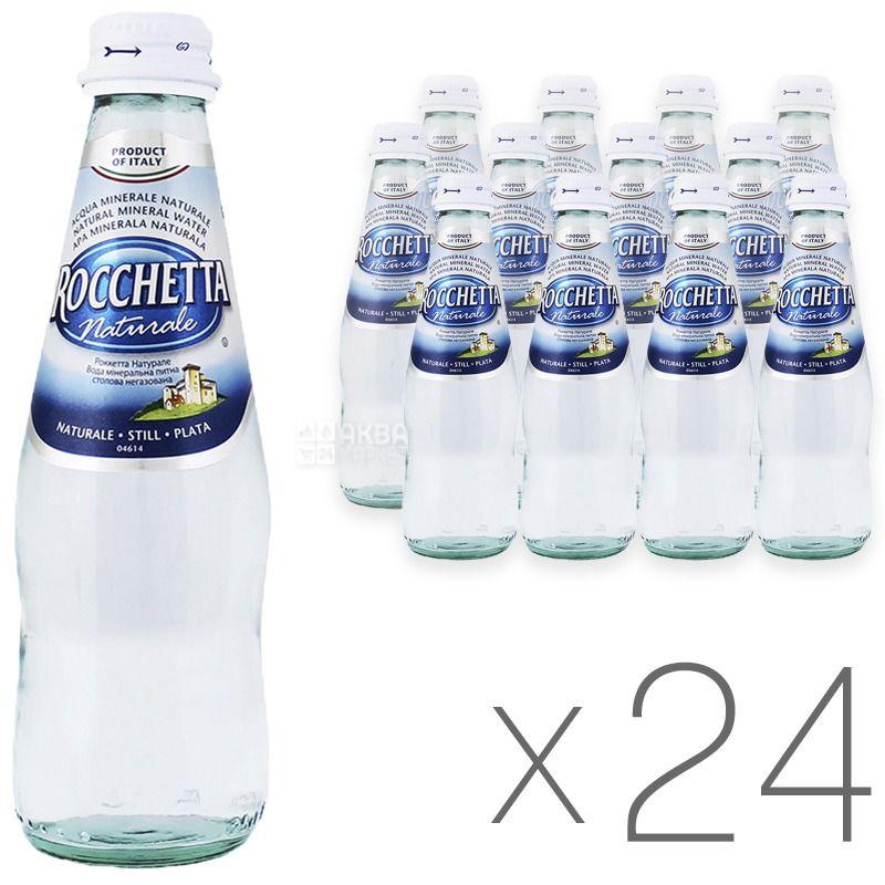 Rocchetta Naturale, 0,25 л, Упаковка 24 шт., Рочетта Натурале, Вода негазированная, стекло