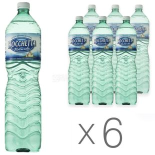Rocchetta Naturale Вода негазована, 1.5л, ПЕТ, упаковка 6шт