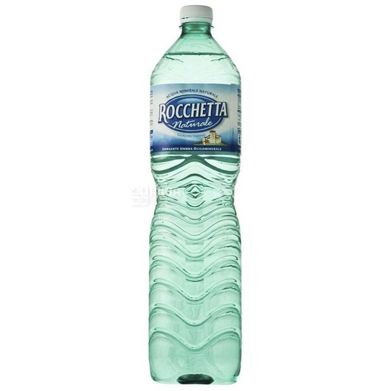Rocchetta Naturale, 1,5 л, Упаковка 6 шт., Рочетта Натурале, Вода негазована, ПЕТ