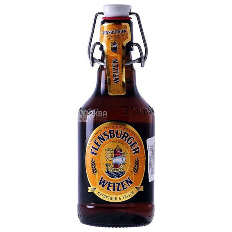 Flensburger Светлое нефильтрованное, Пиво, 0,33 л, Стеклянная бутылка с ключом