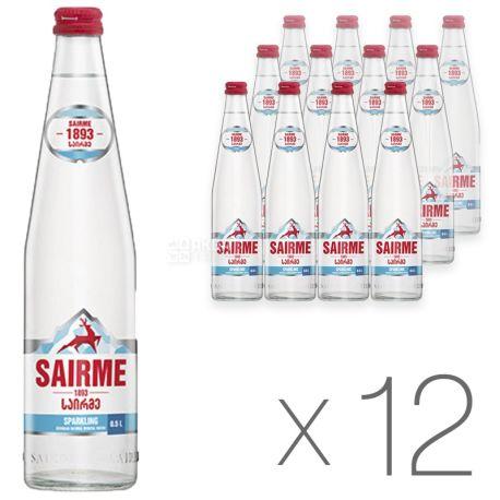Sairme, 0,5 л, Упаковка 12 шт., Саірме, Вода мінеральна газована, скло