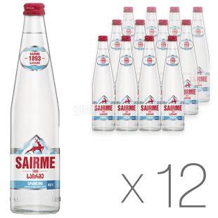 Sairme Вода газированная, 0.5л, стекло, упаковка 12шт
