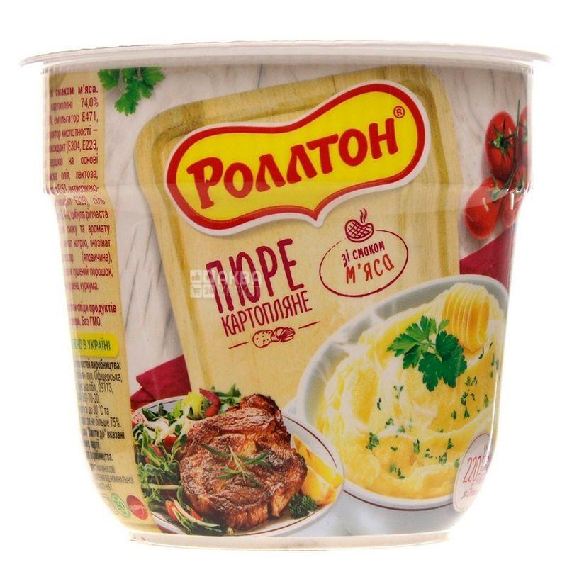 Роллтон, 37 г, Пюре картофельное с мясом, стакан
