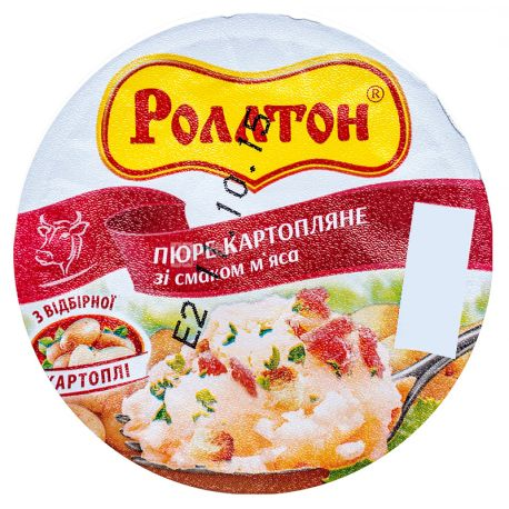 Rollton, 37 g, Mashed potatoes with meat, glass