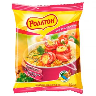 Rollton, 60 g, Vermicelli with cheese and bacon, m / s