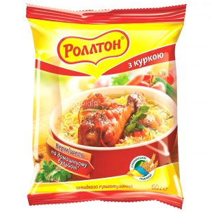 Rollton, 60 g, Vermicelli with chicken, m / s