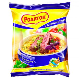Rollton, 60 g, Vermicelli with beef, m / s