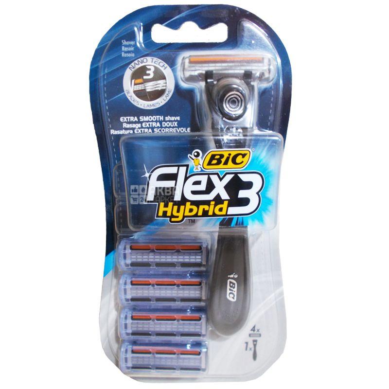 Bic, 1 шт, бритвенный станок, Flex Easy